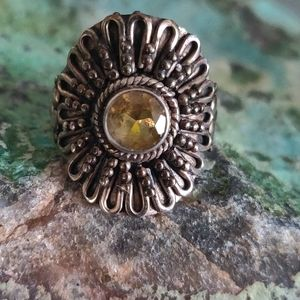 Jewelry - Citrine Sterling Silver Ring
